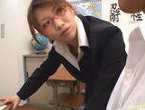 Nami Kimura Naughty Asian teacher sucks cock