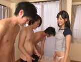 Young Tsukasa Aoi enjoys a hard cock in her wet hole