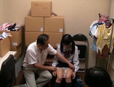 Kinky Japanese teen having sex with a senior guy picture 15