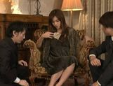 Mei Haruka Japanese babe is fucked by two guys