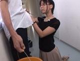 Mischievous Asian cock lover Tsukasa Aoi deepthroats hot guys picture 11