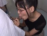 Mischievous Asian cock lover Tsukasa Aoi deepthroats hot guys picture 14