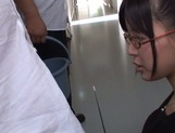 Mischievous Asian cock lover Tsukasa Aoi deepthroats hot guys picture 5