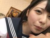 Shameless Asian schoolgirl Ai Uehara sucks cock picture 8
