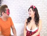 Busty hottie Azusa Nagasawa enjoys horny hunk picture 13