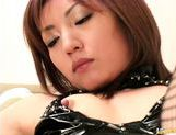 Hitomi Ikeno Japanese doll is a naughty nurse in latex picture 15