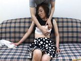 Mature Japanese lady gets tits fondled picture 15