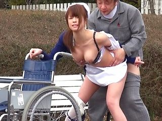 Delicious Japanese nurse sucks rod and makes cock riding