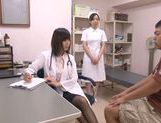 Appealing Japanese milf fucks her horny patient