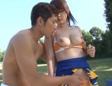 Nice AV girl in cheerleader uniform Eri Hosaka enjoys rear banging