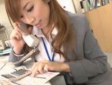 Beautiful Japanese AV models are hot office chicks pleasing boss