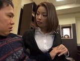 Short-haired Japanese office lady Riko Honda has excellent sex picture 15