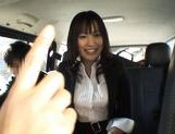 Kasumi Uemura Japanese office lady is a kinky chick who enjoys car sex! picture 13