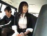Kasumi Uemura Japanese office lady is a kinky chick who enjoys car sex! picture 14