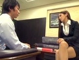 Ayaka Tomoda arousing Asian babe fucks in the office picture 13