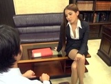 Ayaka Tomoda arousing Asian babe fucks in the office picture 14