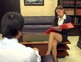 Astonishing Asian office lady Ayaka Tomoda masturbates and bounces on rod