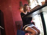 Akari Asahina Asian babe enjoys lunch and a fucking in pov public sex picture 13
