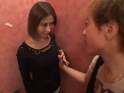 Akari Asahina enjoying great pov sex in a public toilet