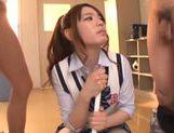 Sexy Asian teen cock teaser Emi Sasaki pleases horny boys