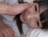 Eye-catching Asian schoolgirl learns to give a blowjob picture 13