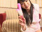 Supern teen Aya Eikura enjoys solo masturbation scene