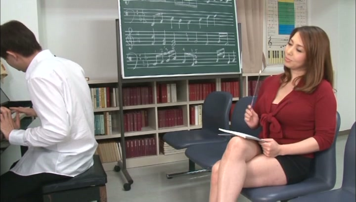 Horny music teacher Yumi Kazama gives an unusual music sex lesson picture 2