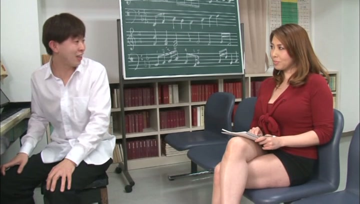 Horny music teacher Yumi Kazama gives an unusual music sex lesson picture 3