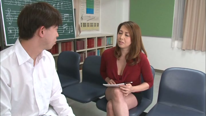 Horny music teacher Yumi Kazama gives an unusual music sex lesson picture 5