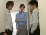 Frisky Japanese teacher Ichika Kanhata gives a mouth job on pov
