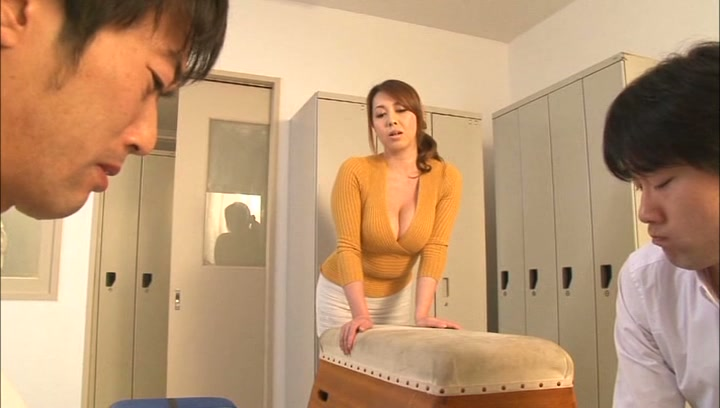 Busty Japanese teacher Yumi Kazama gets body and pussy stimulated picture 6