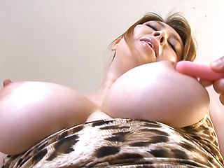 Busty Japanese teacher Yumi Kazama gets body and pussy stimulated