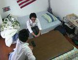 Horny Japanese teen girl has hardcore sex for voyeurs