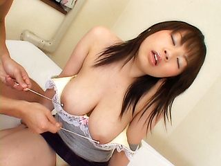 Asian model has a sexy huge set of boobs