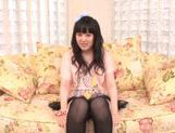 Beautiful milf Machiko Ono in a kinky solo anal penetration action picture 11