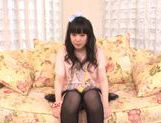Beautiful milf Machiko Ono in a kinky solo anal penetration action picture 13