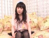 Beautiful milf Machiko Ono in a kinky solo anal penetration action picture 15