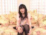 Beautiful milf Machiko Ono in a kinky solo anal penetration action