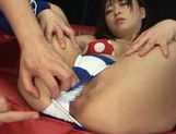 Cute Asian gal Nozomi Hazuki enjoys anal and pussy fisting and driling picture 12