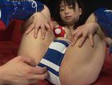 Cute Asian gal Nozomi Hazuki enjoys anal and pussy fisting and driling