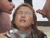 Japanese babe in hot bukkake picture 29