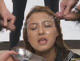 Japanese babe in hot bukkake picture 43