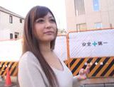 Frisky Japanese AV model is a milf deepthroating hot guy picture 13