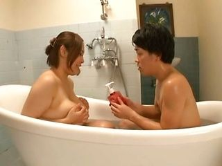 Busty Japanese hottie enjoys hunk stimulating her well