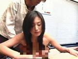 Hot Asian milf is a sexy gal in a threesome picture 12