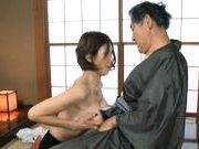 Mai Hanano Japanese milf fucks old man