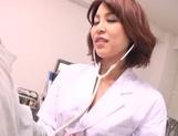 Japanese nurse Erika Nishino, enjoying a tasty dick