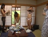 Japanese amateurs gangbanged in the outdoor baths picture 12