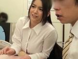 Adorable Japanese office girl with fantastic big tits enjoys hot shagging