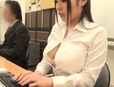 Busty Japanese office girl gets unbelievable sexual experience